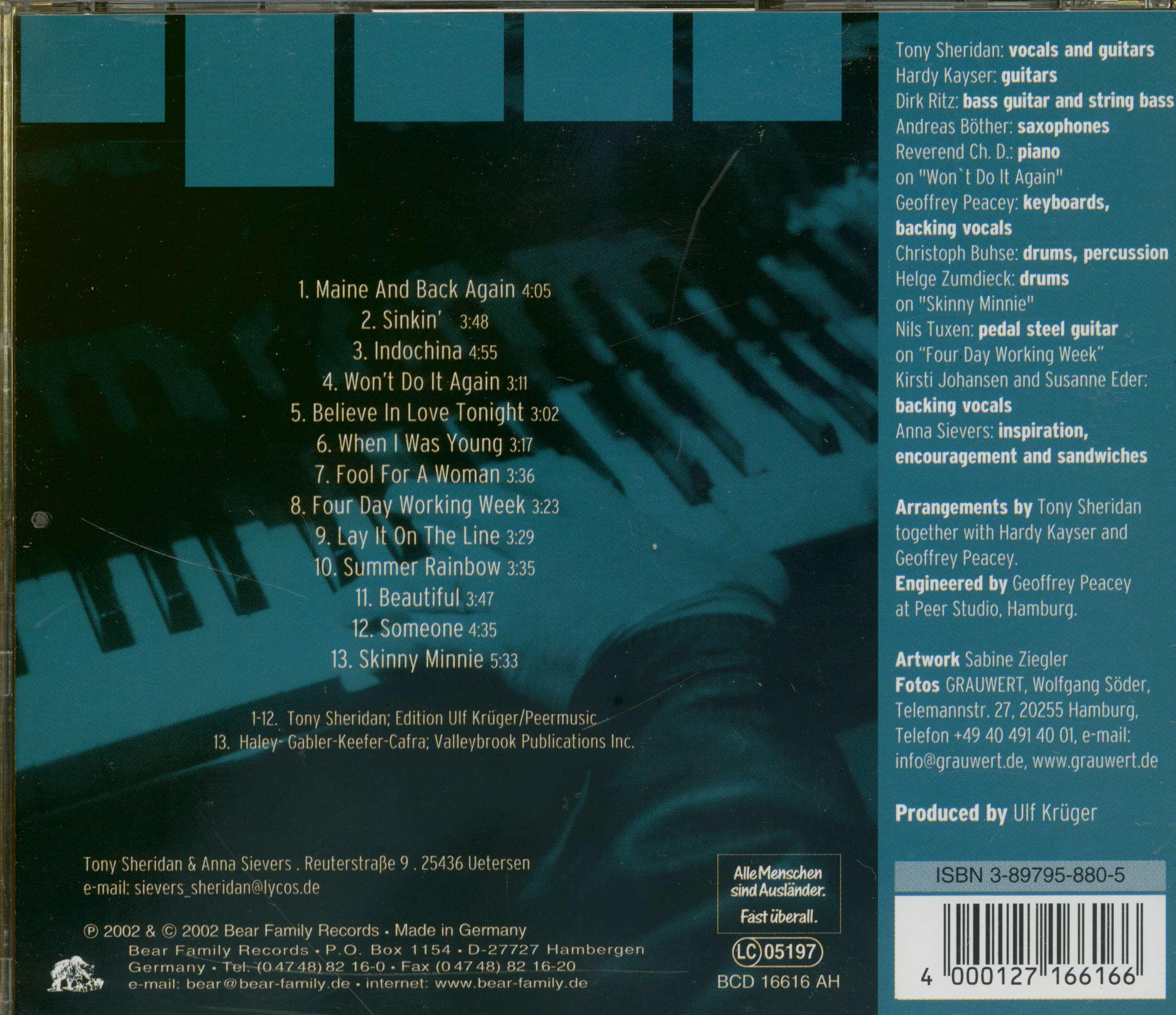 new products e2010 b46fe Tony Sheridan Vagabond