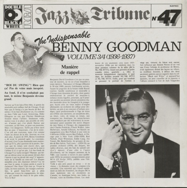 The Indispensable Benny Goodman - Vol.3&4 (2-LP)