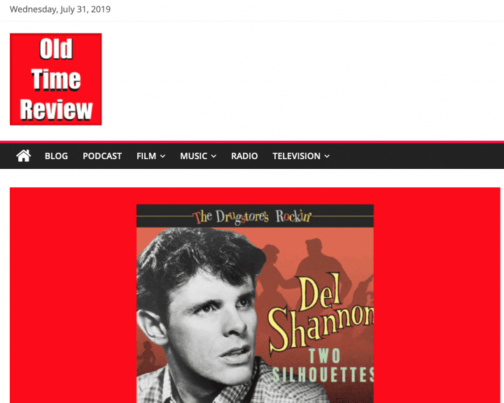 Press-Archive-Del-Shannon-The-Drugstore-s-Rockin-Two-Silhouettes-CD-Old-Time-Review-UK