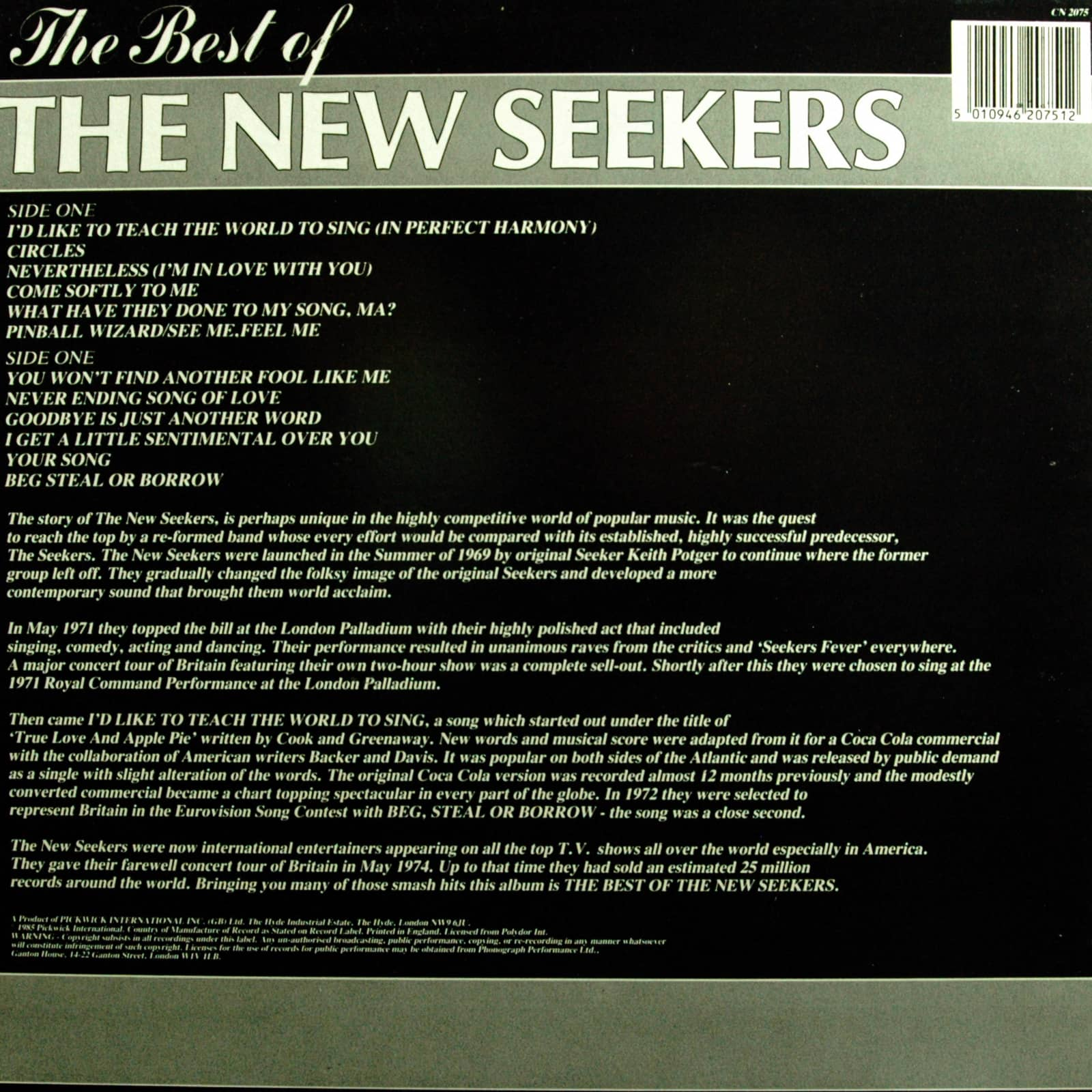 The New Seekers The Best Of The New Seekers (LP)