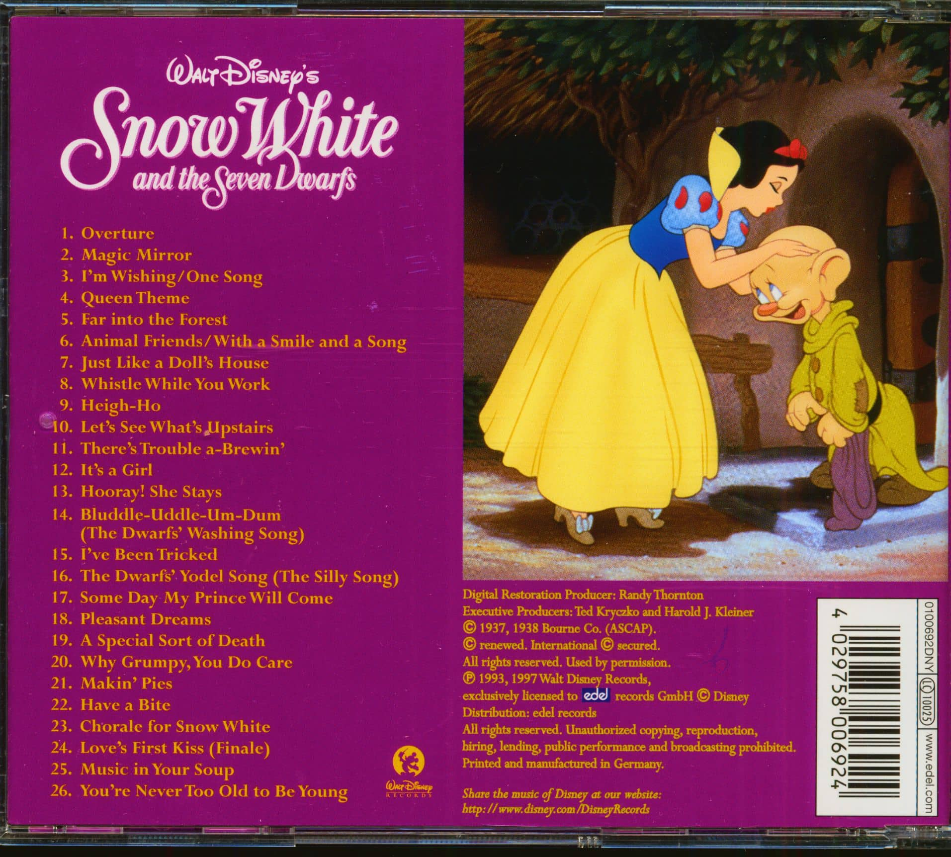 Various Snow White And The Seven Dwarfs - Classic Soundtrack Series (CD)