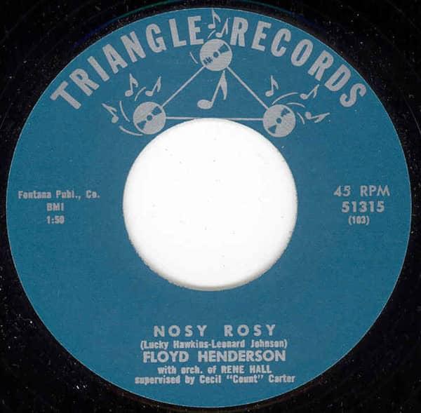 Nosy Rosy b-w Tenderly 7inch, 45rpm