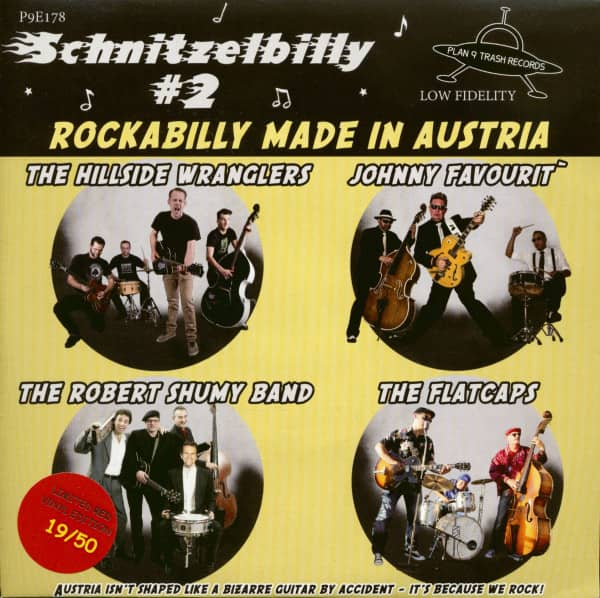 Schnitzelbilly No.2 - Rockabilly Made In Austria (EP, 33rpm, 7inch, PS, SC, Red Vinyl)