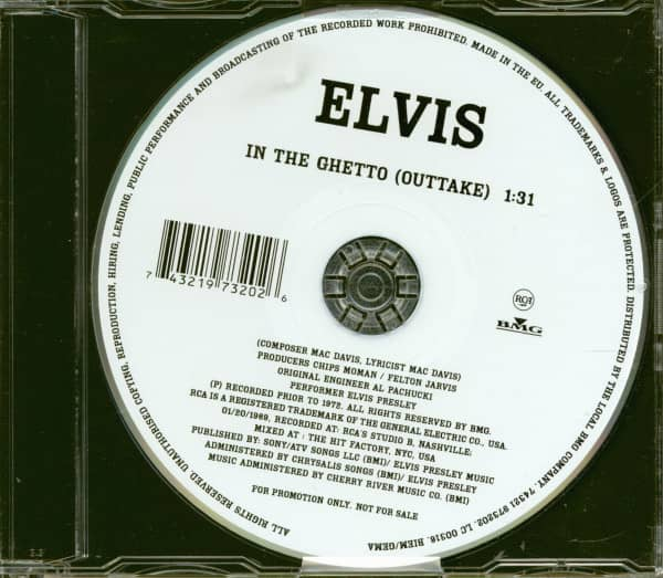 In The Ghetto (Outtake) - CD Single (Promo)