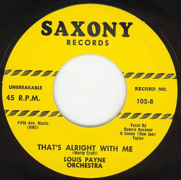 That's Alright With Me b-w Lover 7inch, 45rpm