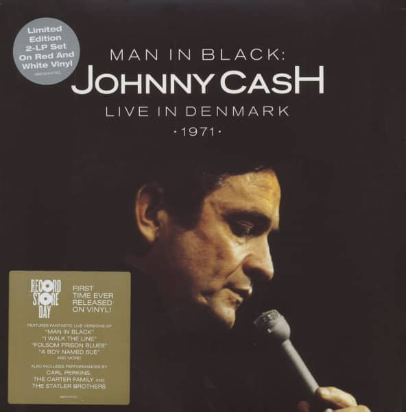 Man In Black: Johnny Cash Live In Denmark (2-LP Red And White Vinyl) Limited Edition