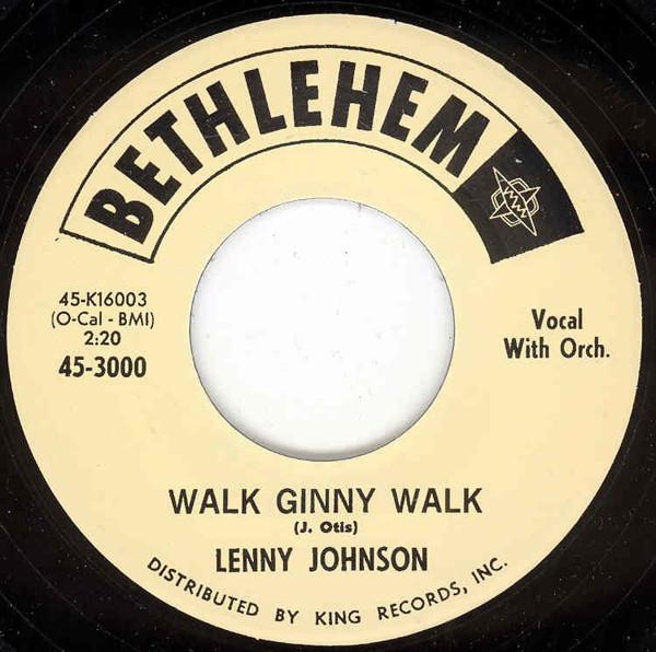Gee Gee Baby - Walk Ginny Walk 7inch, 45rpm