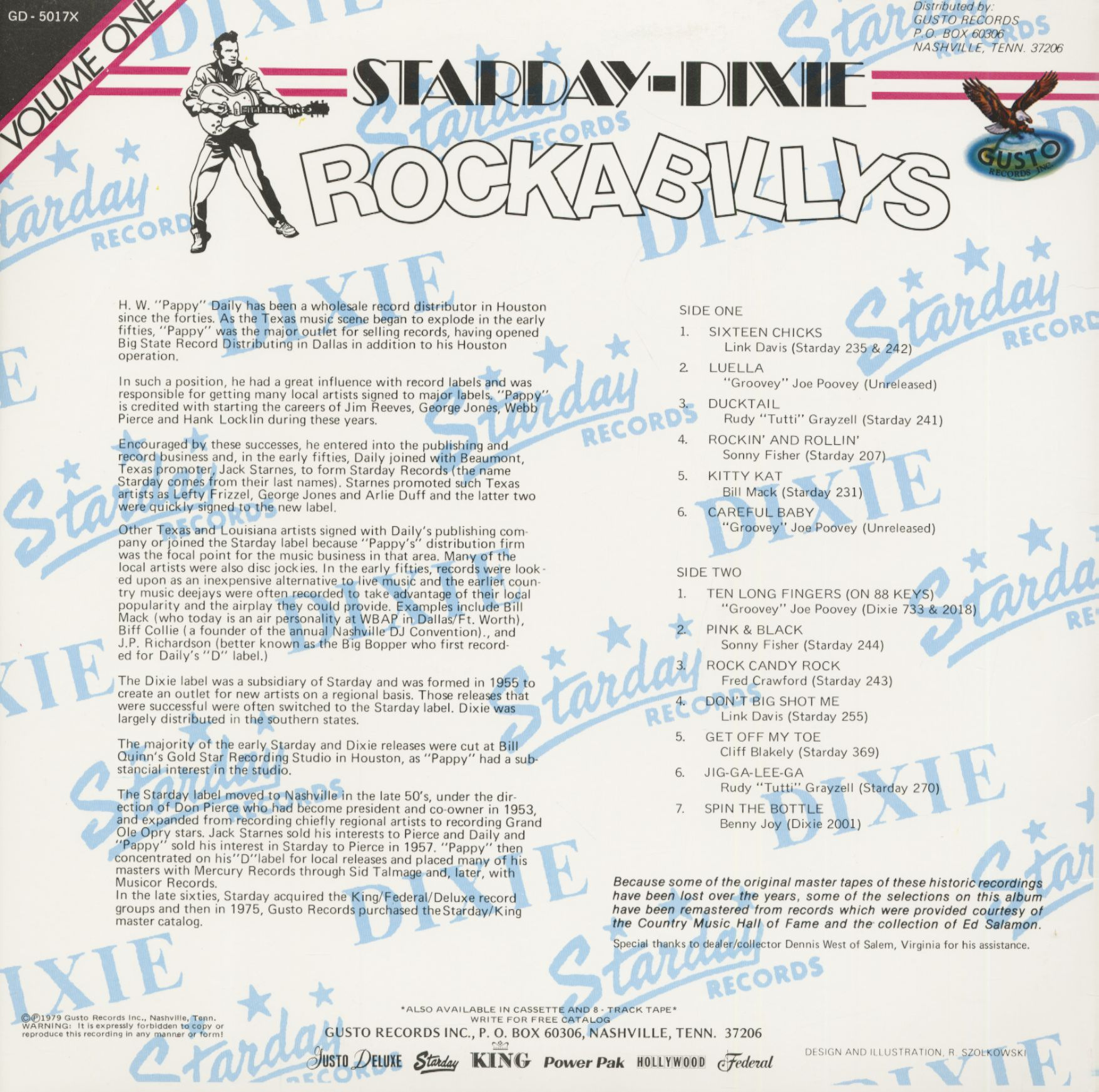 Various Starday-Dixie Rockabilly, Vol 1 (LP)