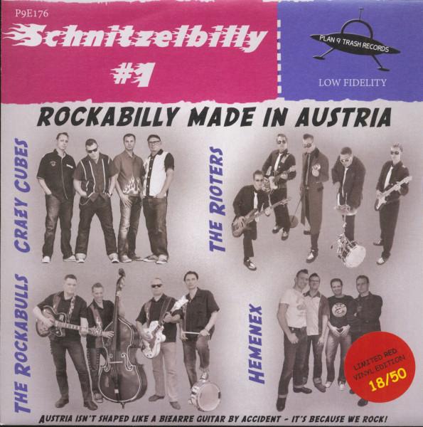 Schnitzelbilly No.1 - Rockabilly Made In Austria (7inch, EP, Red Vinyl, PS, SC, Ltd.)