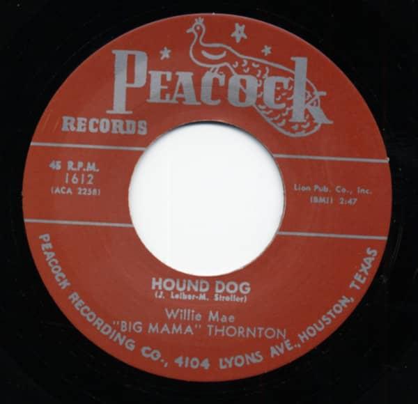 Hound Dog b-w Rock A Bye Baby 7inch, 45rpm