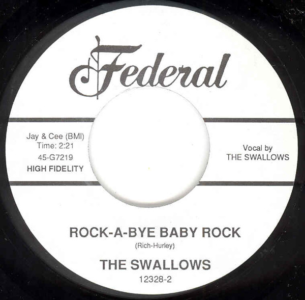 Rock-A-Bye Baby Rock b-w In The Palm Of My Hands 7inch, 45rpm