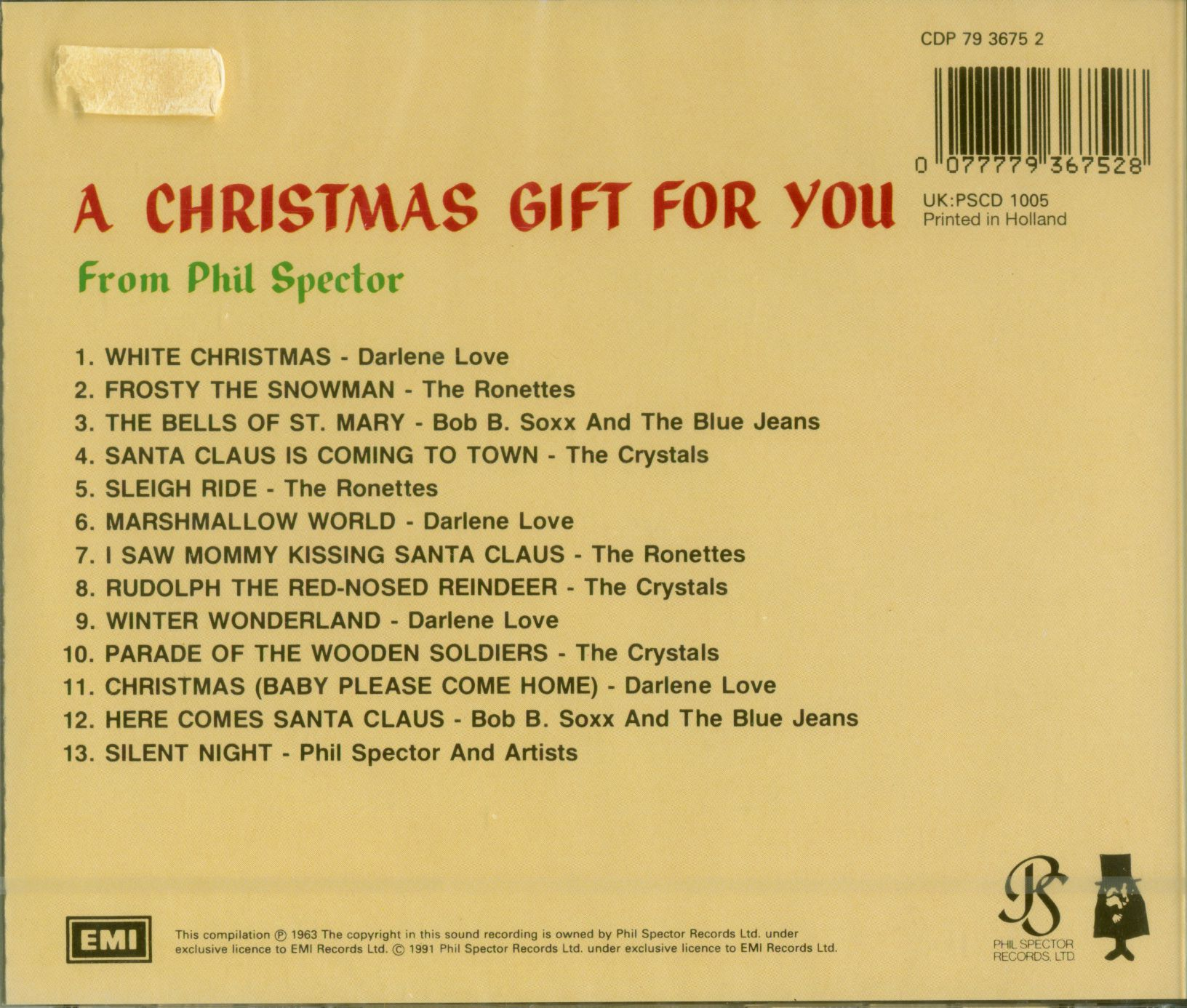 A Christmas Gift For You From Phil Spector.Various A Christmas Gift For You From Phil Spector First Pressing Nl