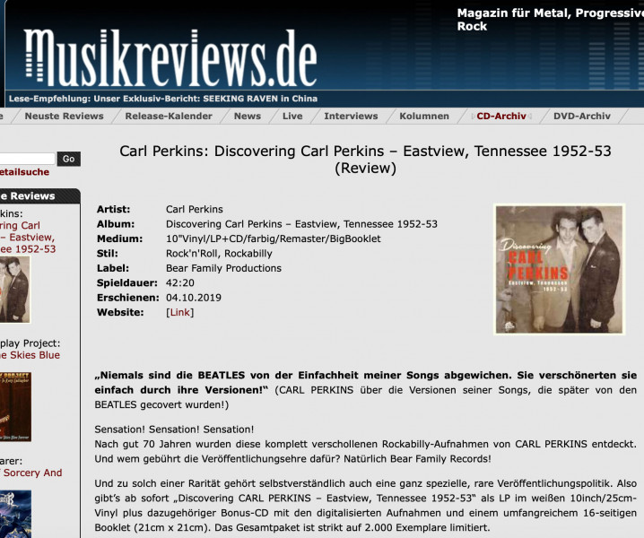 Press-Archive-Carl-Perkins-Discovering-Carl-Perkins-Eastview-Tennesse-1952-1953-LP-10inch-musikreviews