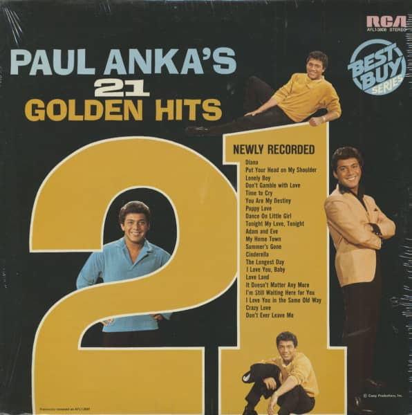 Paul Anka's 21 Golden Hits (LP)