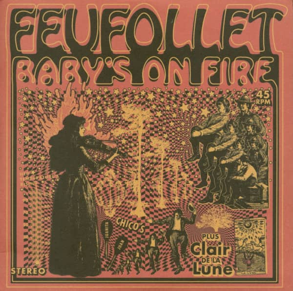 Baby's On Fire - Clair de la Lune (7inch, 45rpm, PS, Ltd)