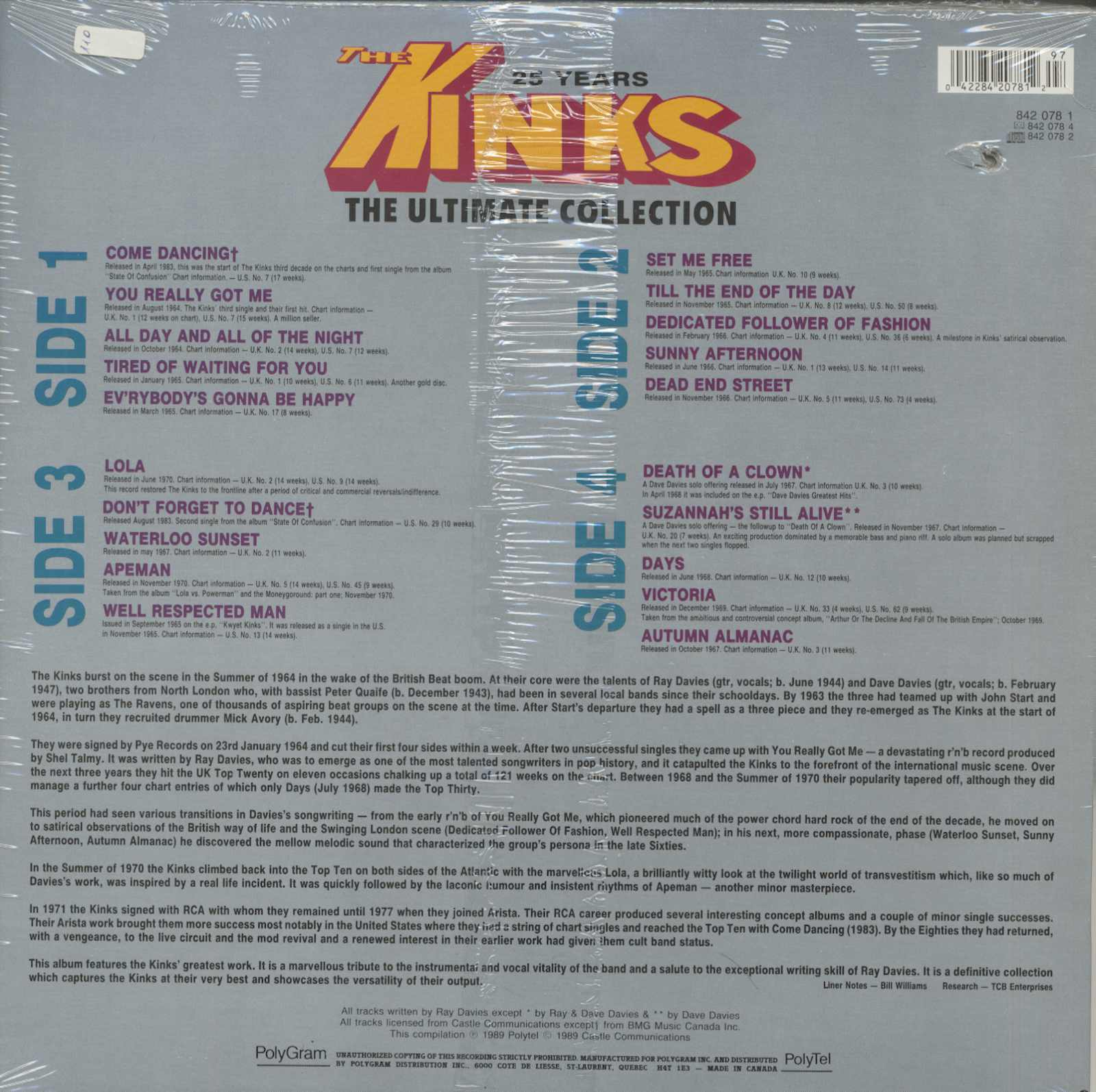 The Kinks Ultimate Collection: The Ultimate Collection (2-LP