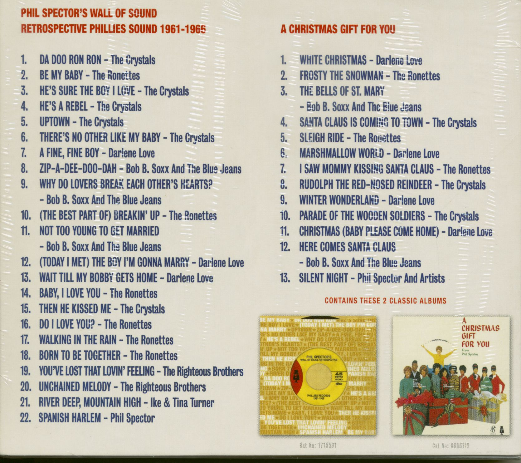 Phil Spector & Others CD: The Phill Spector Collection - Wall Of Sound Retrospective & Christmas ...