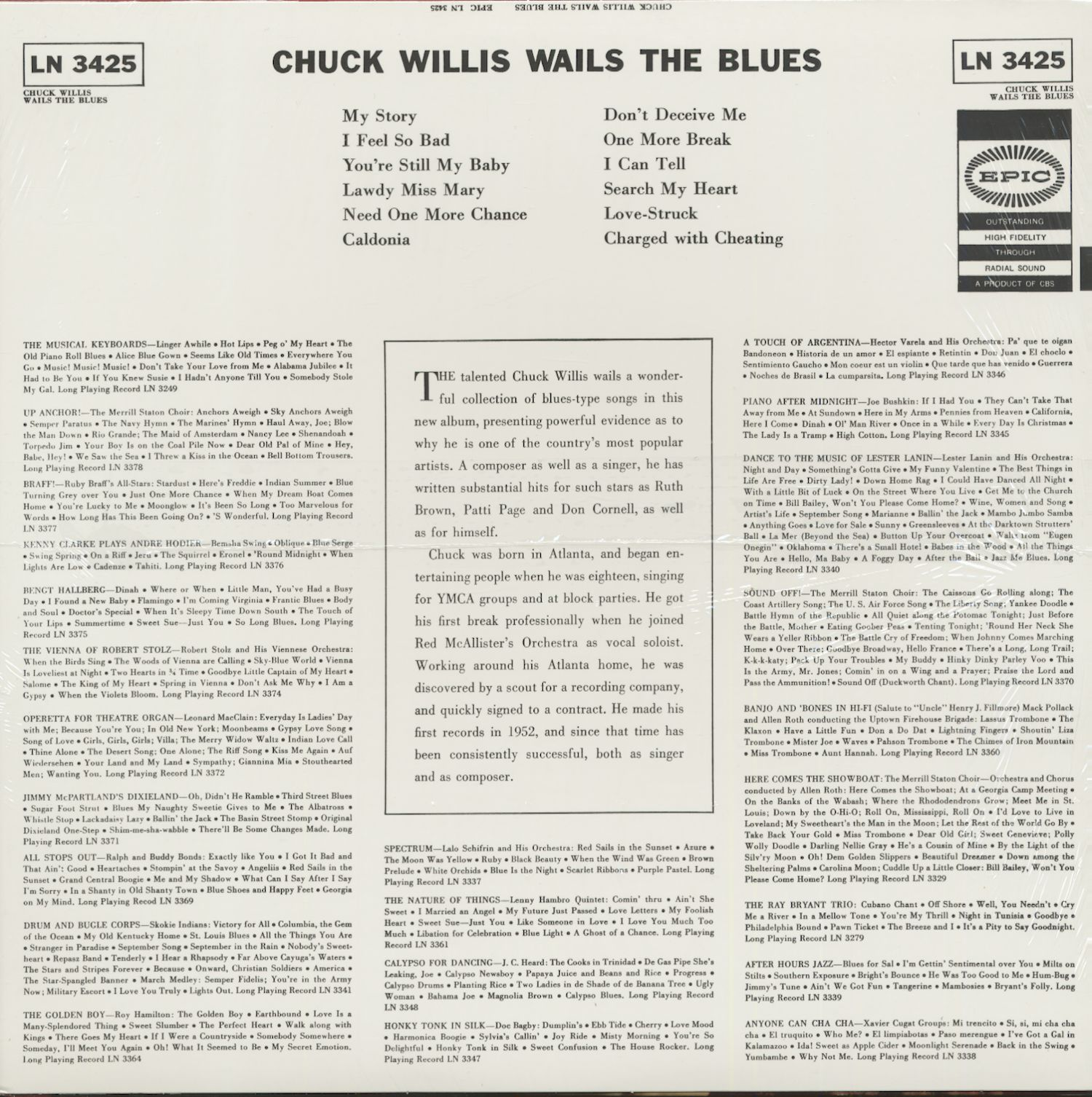 Chuck Willis Chuck Willis Wails The Blues (LP)