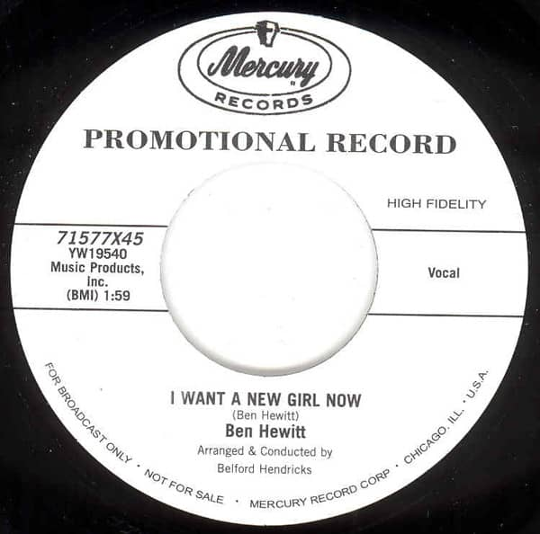 My Search - I Want A New Girl Now 7inch, 45rpm