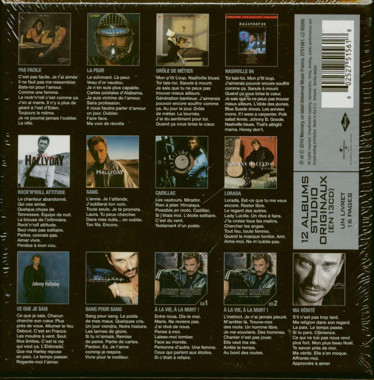 qui a chanté « carte postale » en 1981 ? Johnny Hallyday CD: Studio Albums 1981 2005plus (13 CD)   Bear