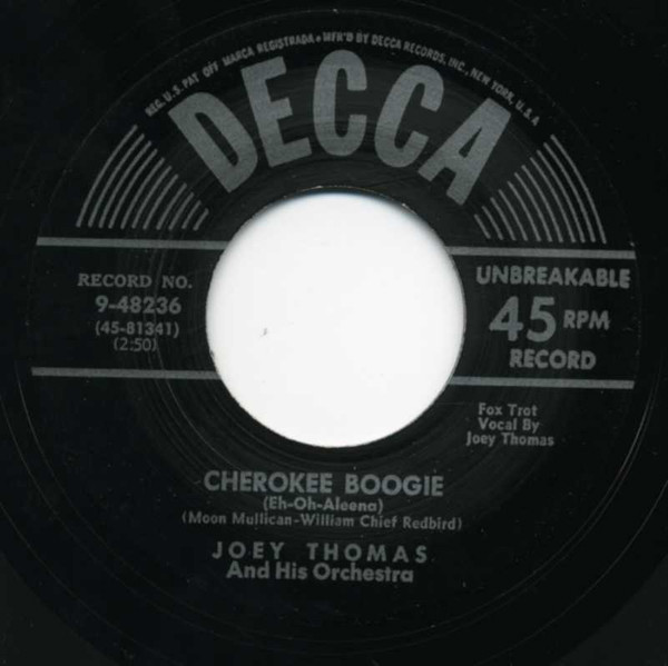 Cherokee Boogie - Barefoot Susie 7inch, 45rpm