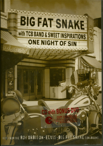 Big Fat Snake With TCB Band & Sweet Inspirations - One Night Of Sin (CD+DVD Set)