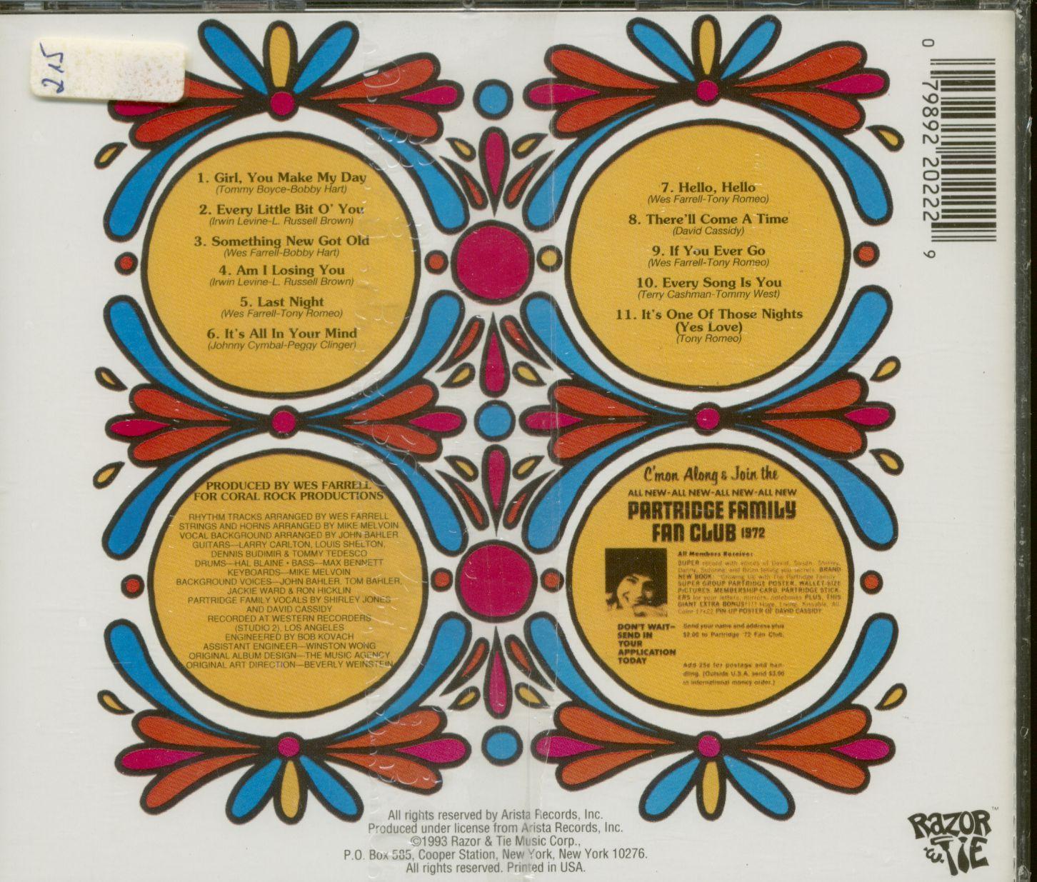 PARTRIDGE FAMILY CD: Family Shopping Bag (CD) - Bear Family