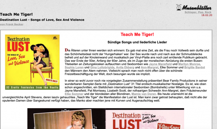 Presse-Archive-Destination-Lust-Songs-of-Love-Sex-And-Violence-CD-musenbl-tter