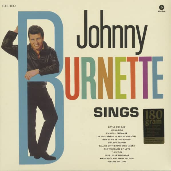 Johnny Burnette Sings (LP, 180g Vinyl)