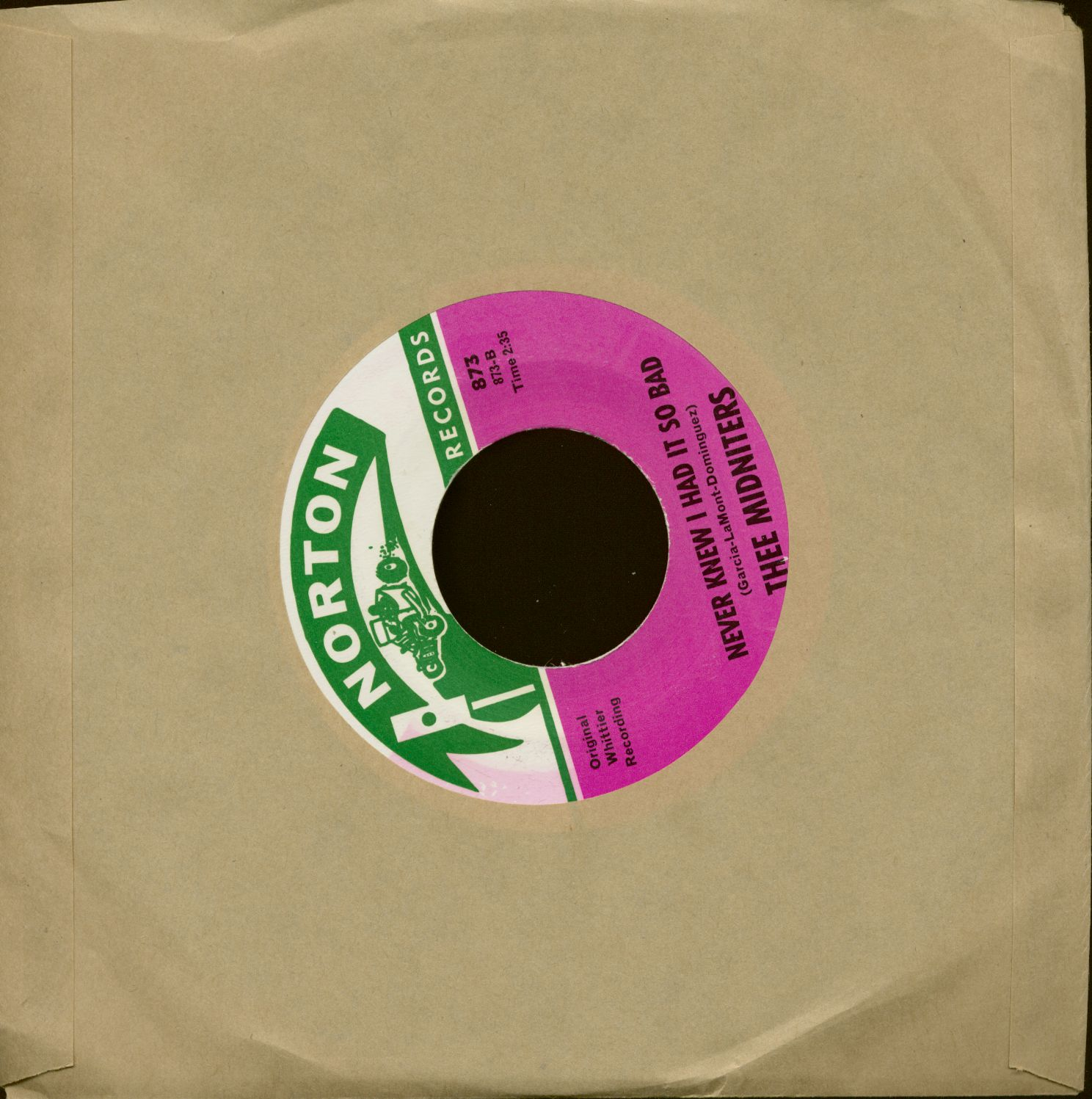 Thee Midnighters 7inch: Everybody Needs Somebody To Love