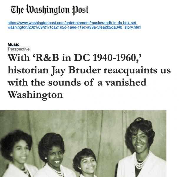 Various-History-R-B-in-DC-1940-1960-Rhythm-Blues-Doo-Wop-Rockin-Rhythm-and-more-The-Washington-Post