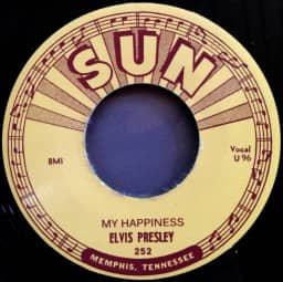 My Happiness b-w My Baby's Gone - 7inch, 45rpm (SUN 252)
