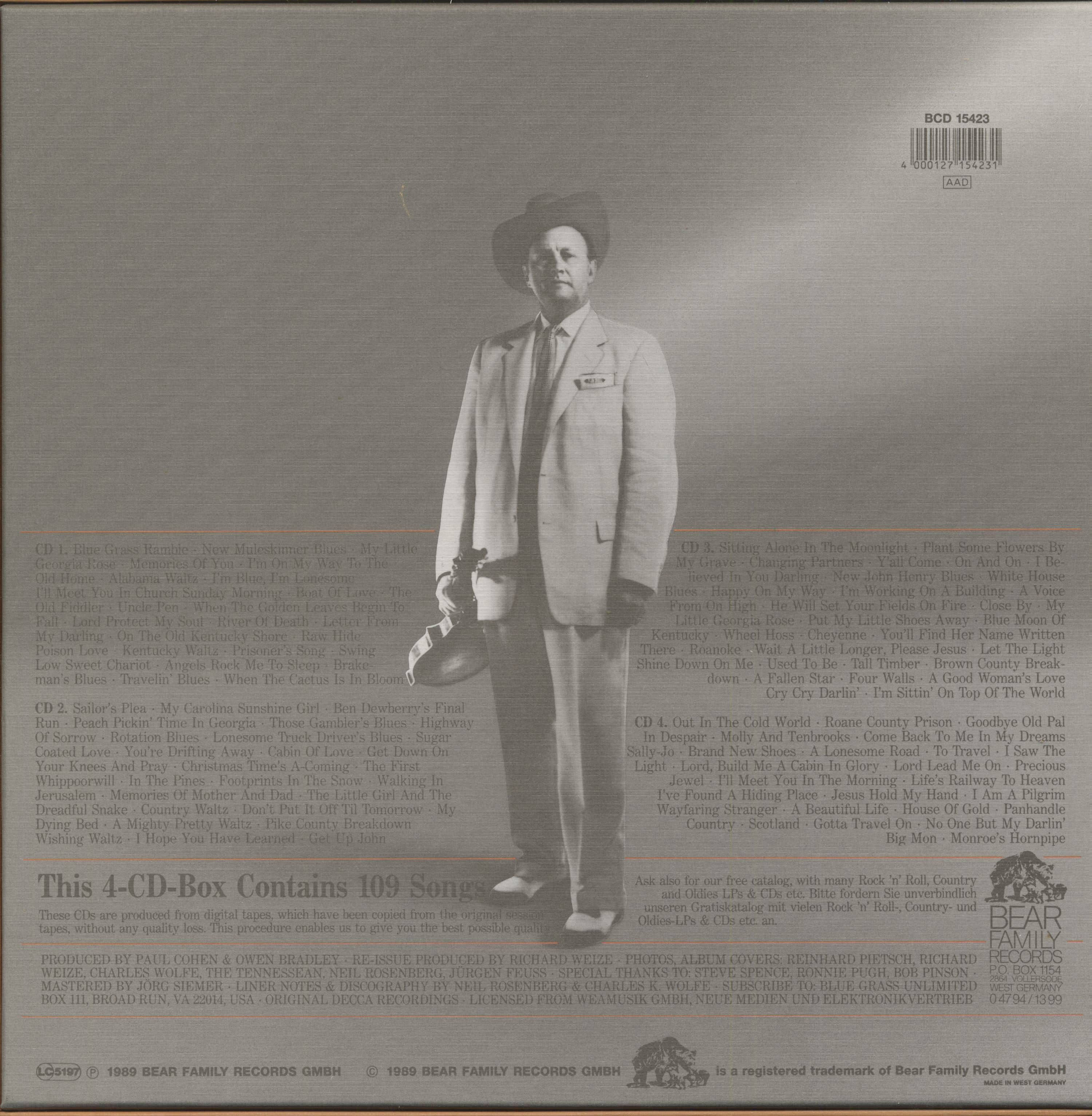 Bill Monroe Blue Grass 1950-1958 (4-CD)
