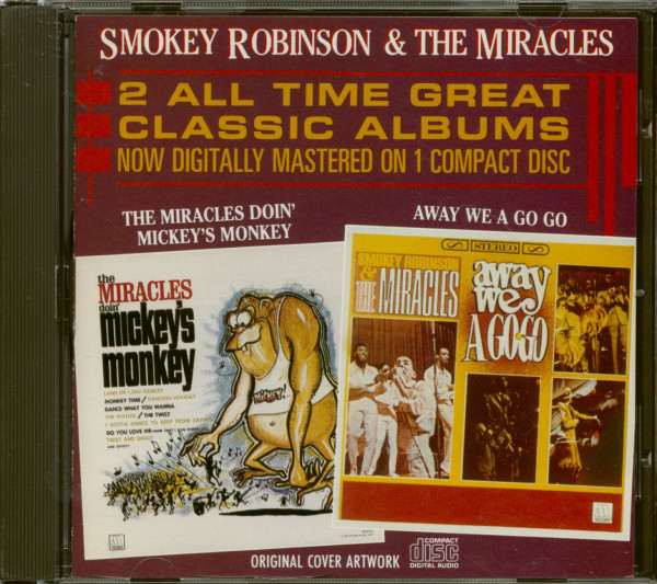 The Miracles Doin' Mickey's Monkey - Away We A Go Go (CD, Cut-Out)