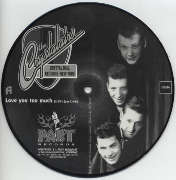 Love You Too Much - Winter In Kanada (7inch, 45rpm, SC, Picture Single)