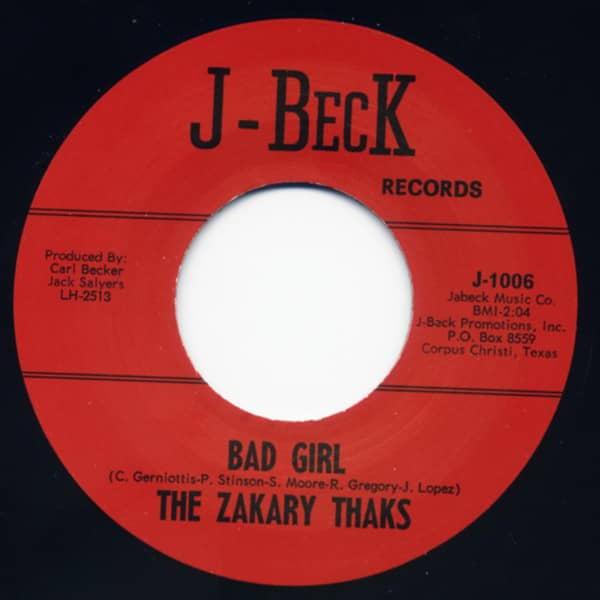 Bad Girl - I Need You 7inch, 45rpm