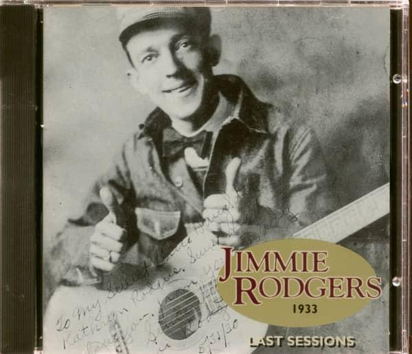 Last Sessions 1933 (CD)