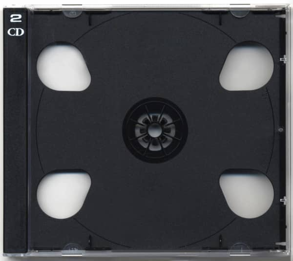 CD case with black tray for 2 CDs