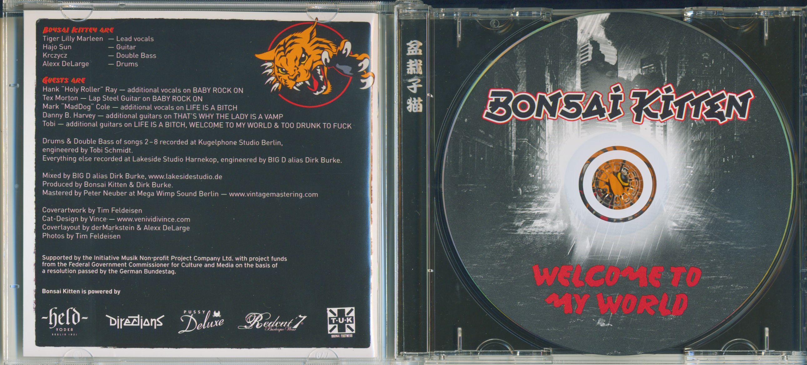 Bonsai Kitten Welcome To My World (CD Album)