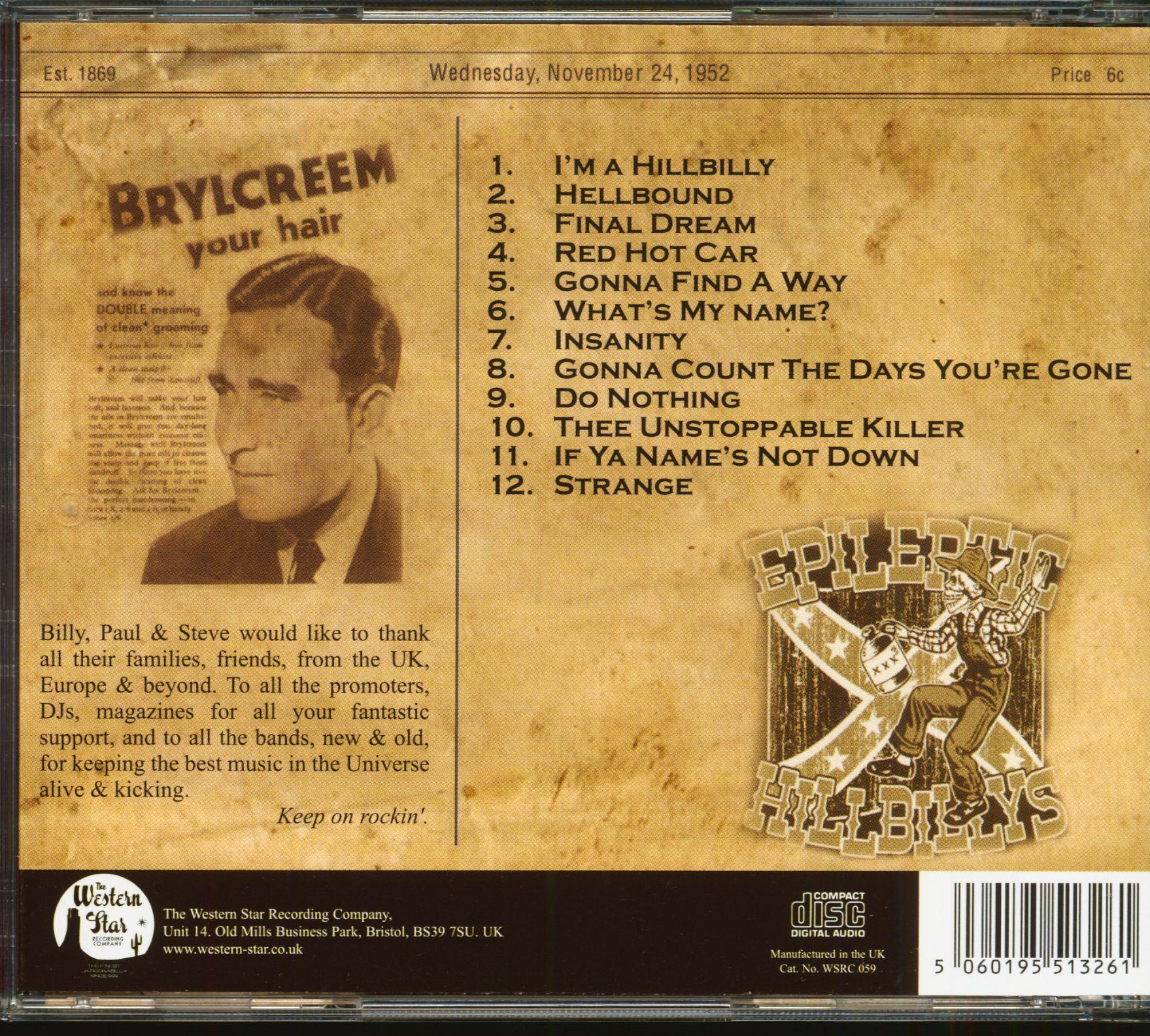 The Epileptic Hillbilly's Insanity (CD)