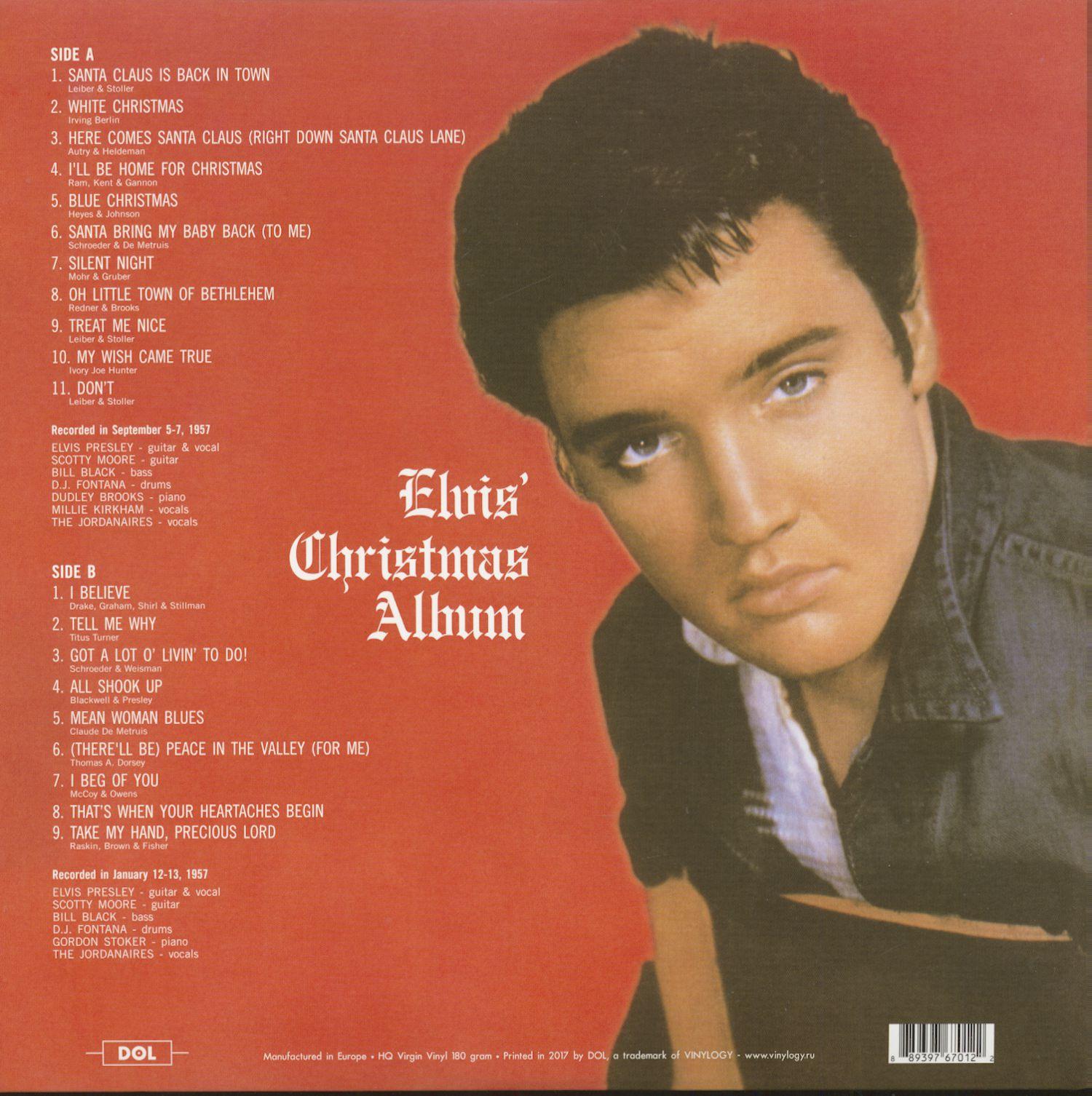 Elvis Christmas Album Vinyl.Elvis Presley Elvis Christmas Album Picture Lp 180g Vinyl