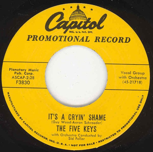 It's A Cryin' Shame - You're For Me 7inch, 45rpm