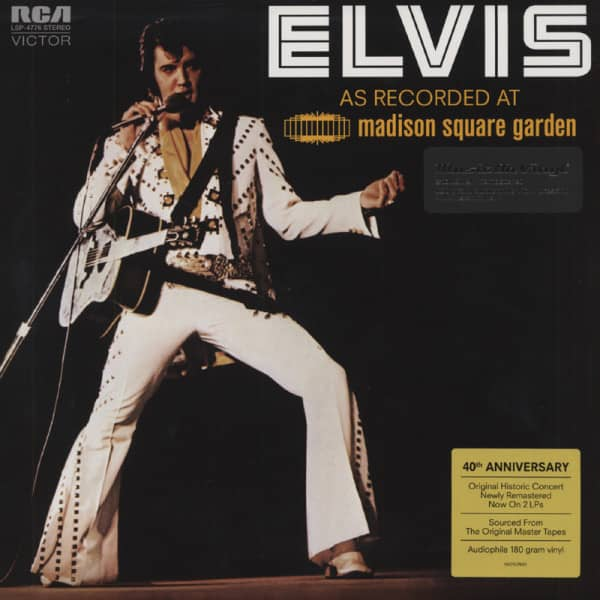 As Recorded At Madison Square Garden (2-LP) 180g Vinyl - 40th Anniversary Edition