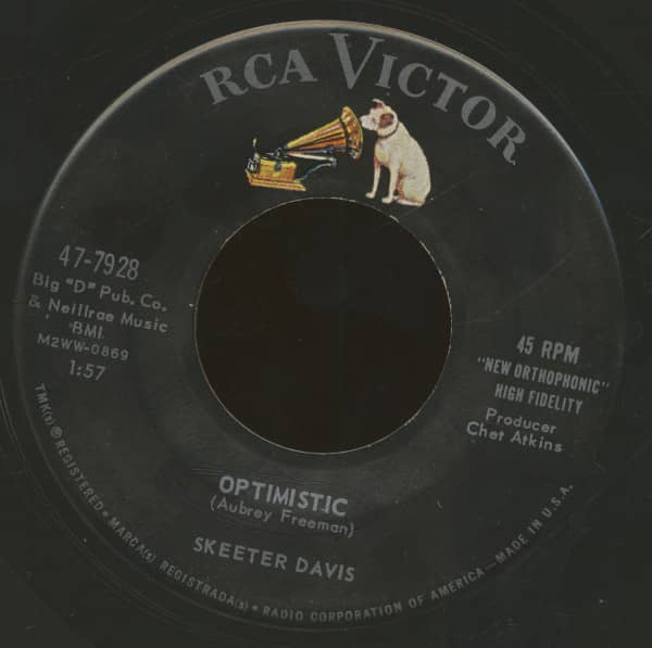 Optimistic - Blueberry Hill (7inch, 45rpm, BC)