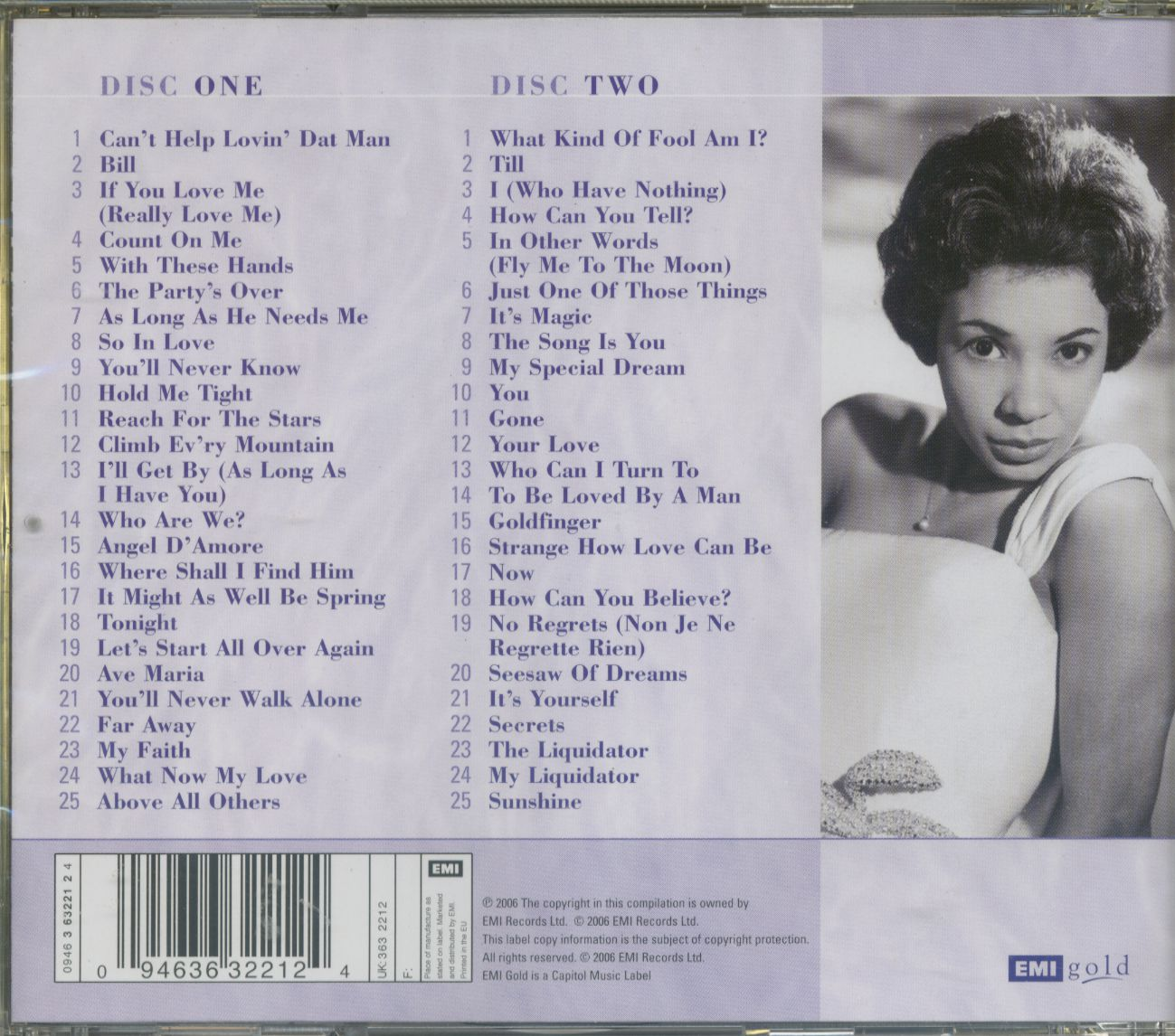Shirley Bassey CD: Complete Emi - Columbia Singles 1959-66 (2-CD