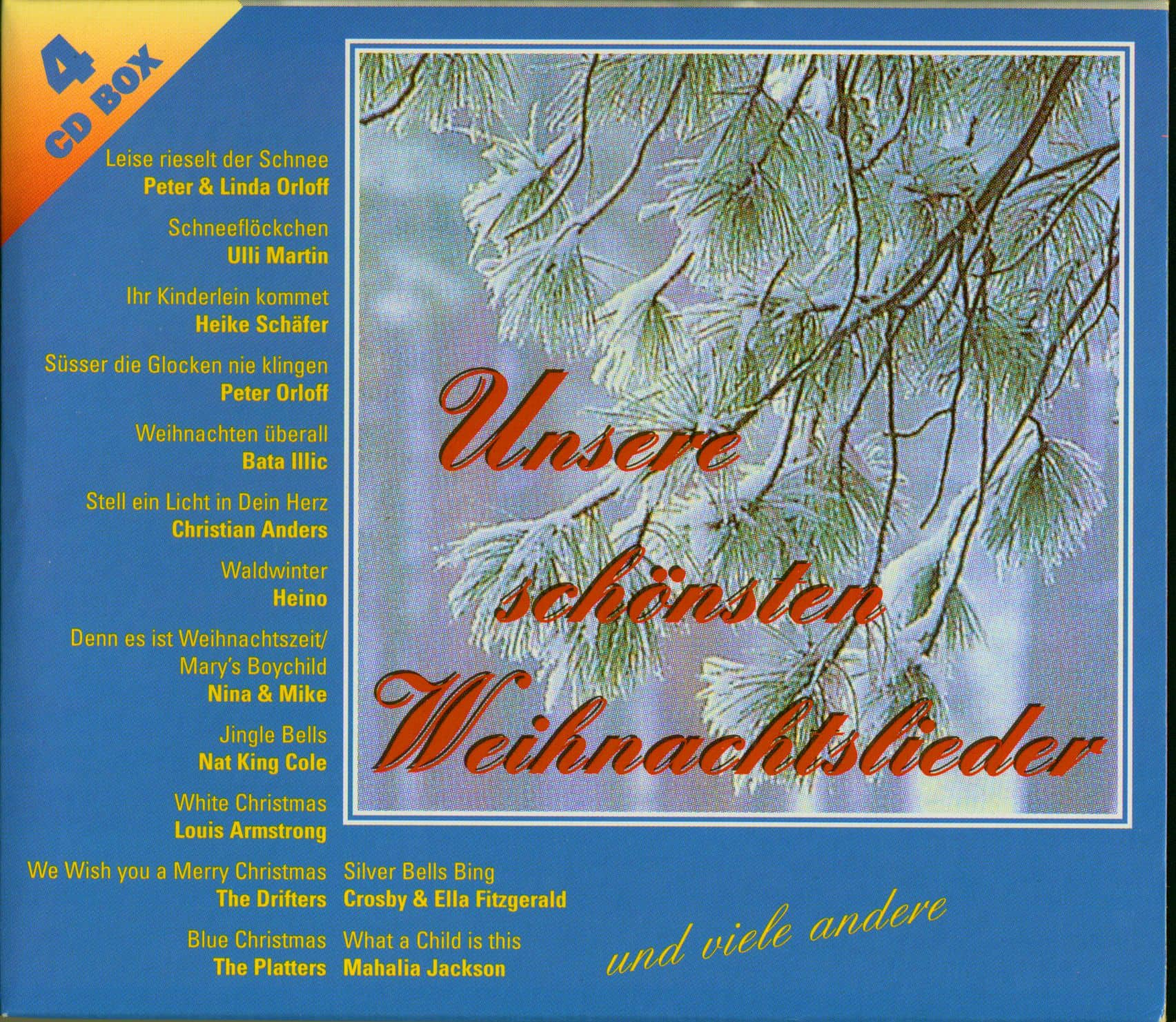 Weihnachtslieder Cd.Various Unsere Schönsten Weihnachtslieder 4 Cd