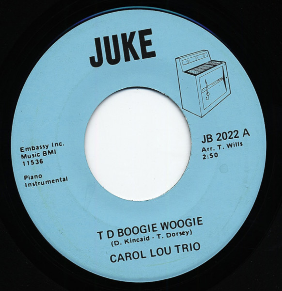 T D Boogie Woogie - Lullaby Of Birdland 7inch, 45rpm