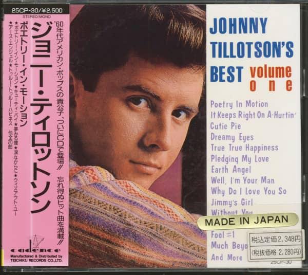 Johnny Tillotson's Best Vol.1 (CD, Japan)