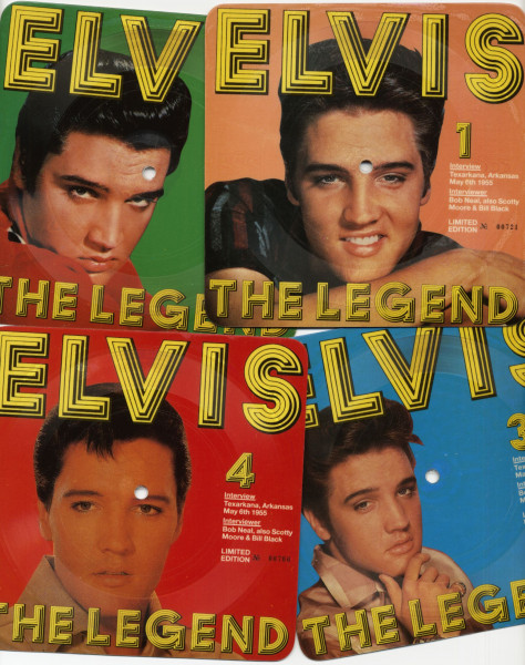The Legend (4x7inch, 45rpm, Picture Flexi Discs, Ltd., Numbered)