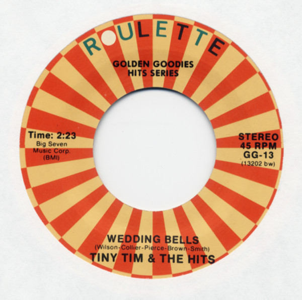 Wedding Bells b-w Crying In The Chapel 7inch, 45rpm